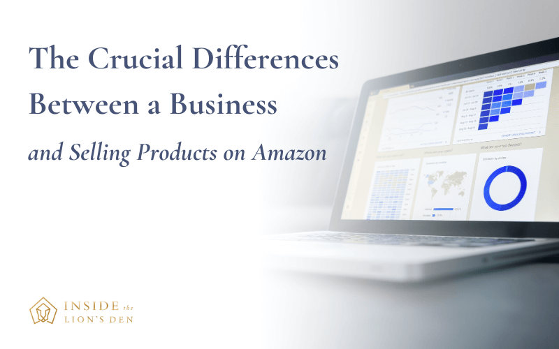 The Crucial Differences between a business and selling products on amazon