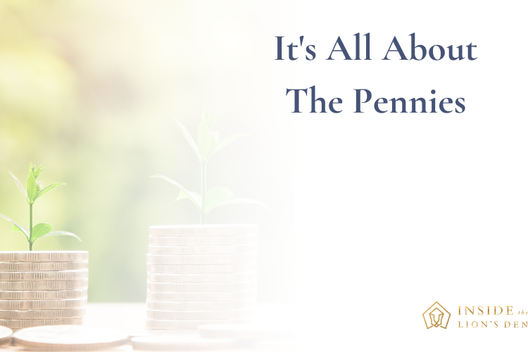 Inside the lions den podcast - ep 17 it's all about the pennies